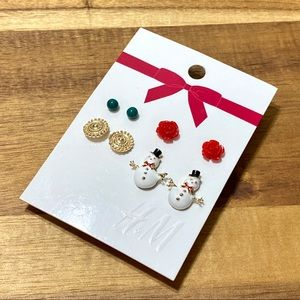 H&M, Holiday Earrings